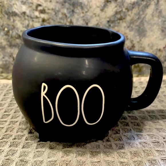 Rae Dunn BOO Black Cauldron Mug